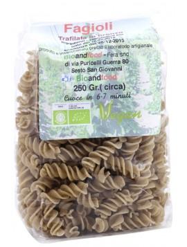 Bronze-drawn Borlotti beans Fusilli 250g - Organic