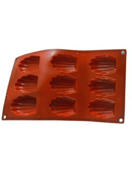 9 madeleine silicone moulds (Professional)