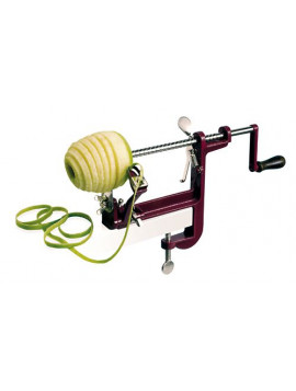 Apple peeler with clamp