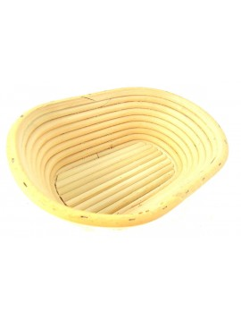 Bamboo medium rectangular leavening basket