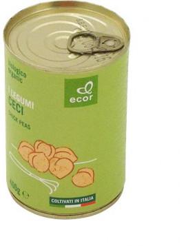Boiled chickpeas 400g (240g sg.) - Organic
