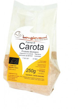 Dehydrated carrot powder 250g - Organic