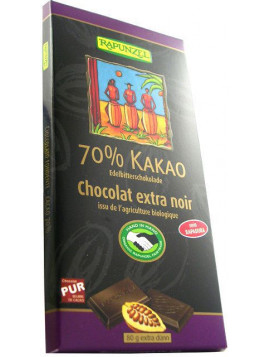 Extra Noir 70% dark chocolate 80 g - Organic