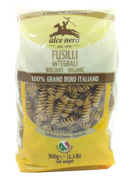 Durum wheat wholemeal Fusilli 500g - Organic