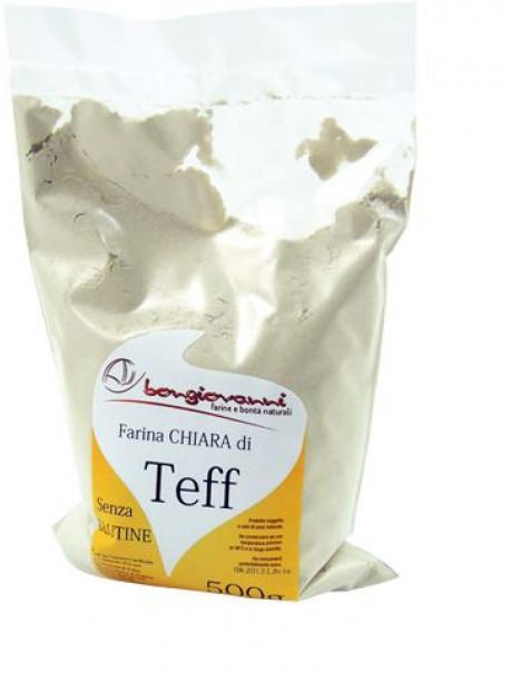 Light Teff flour 500g – Gluten free - Bongiovanni (Farine e bontà naturali)