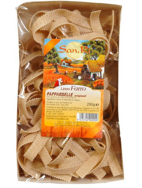 Spelt partially wholemeal pappardelle 250g - Organic - Sotto le Stelle