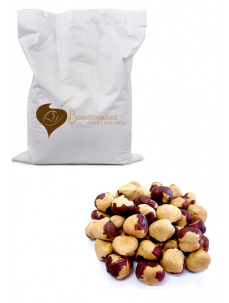 Toasted hazelnuts 1Kg - Organic - Bongiovanni (Farine e bontà naturali)