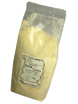 Toasted soy flour 1Kg - Organic